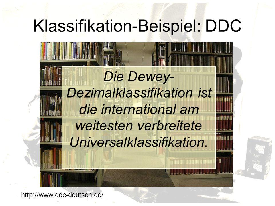 Klassifikation-Beispiel: DDC