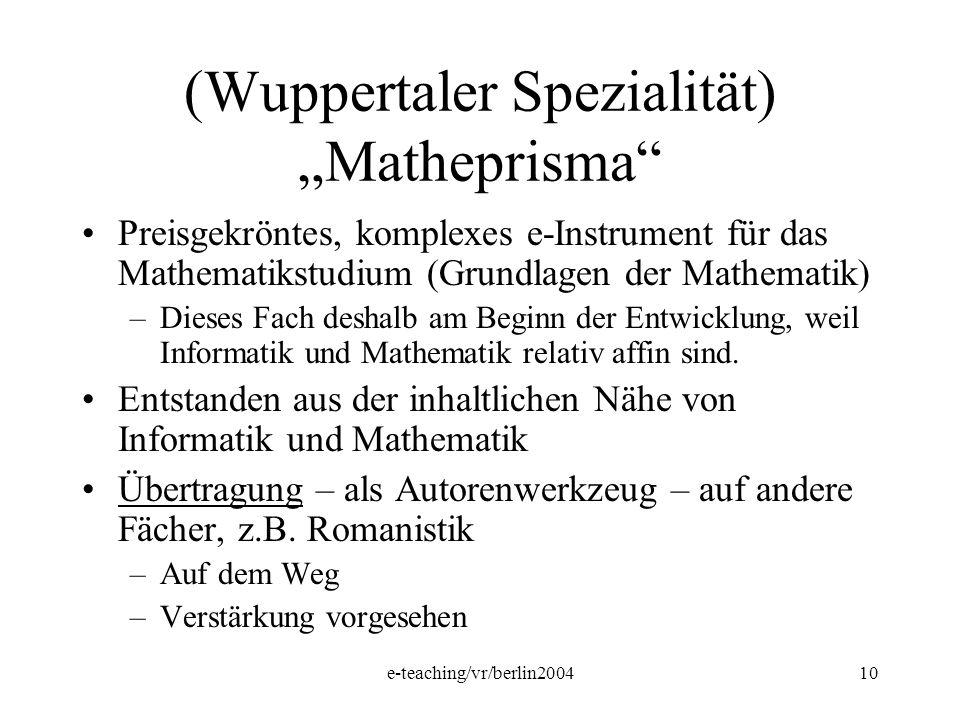 """(Wuppertaler Spezialität) """"Matheprisma"""