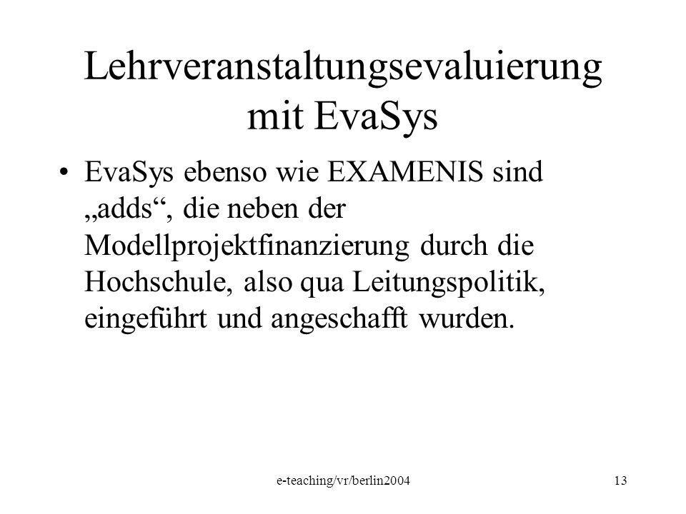 Lehrveranstaltungsevaluierung mit EvaSys