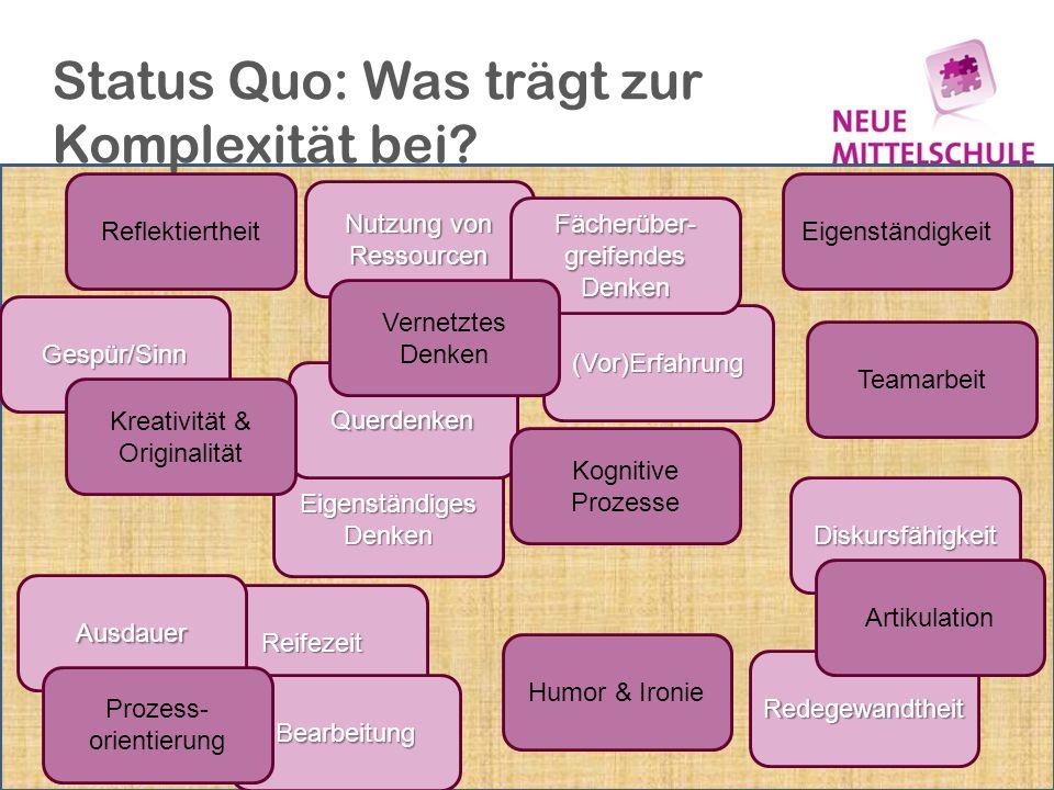 Status Quo: Was trägt zur Komplexität bei