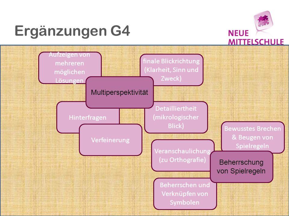 Ergänzungen G4 Aufzeigen von mehreren möglichen Lösungen