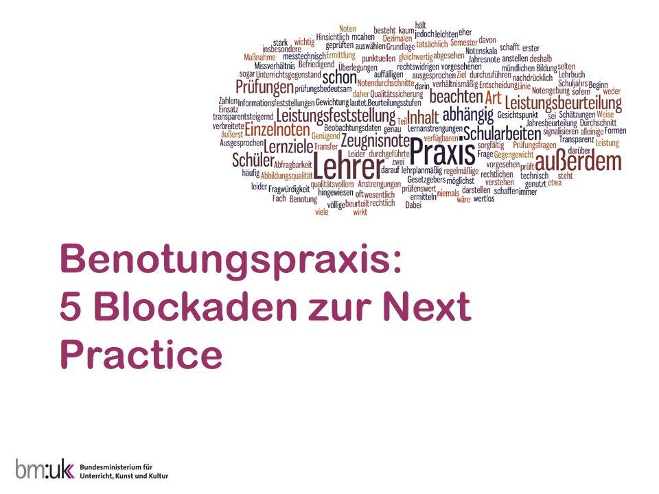 Benotungspraxis: 5 Blockaden zur Next Practice