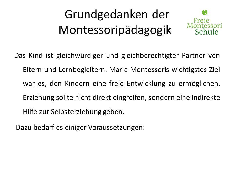 Grundgedanken der Montessoripädagogik