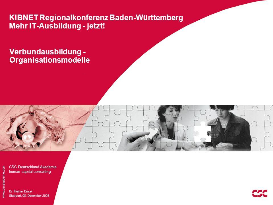 KIBNET Regionalkonferenz Baden-Württemberg Mehr IT-Ausbildung - jetzt!