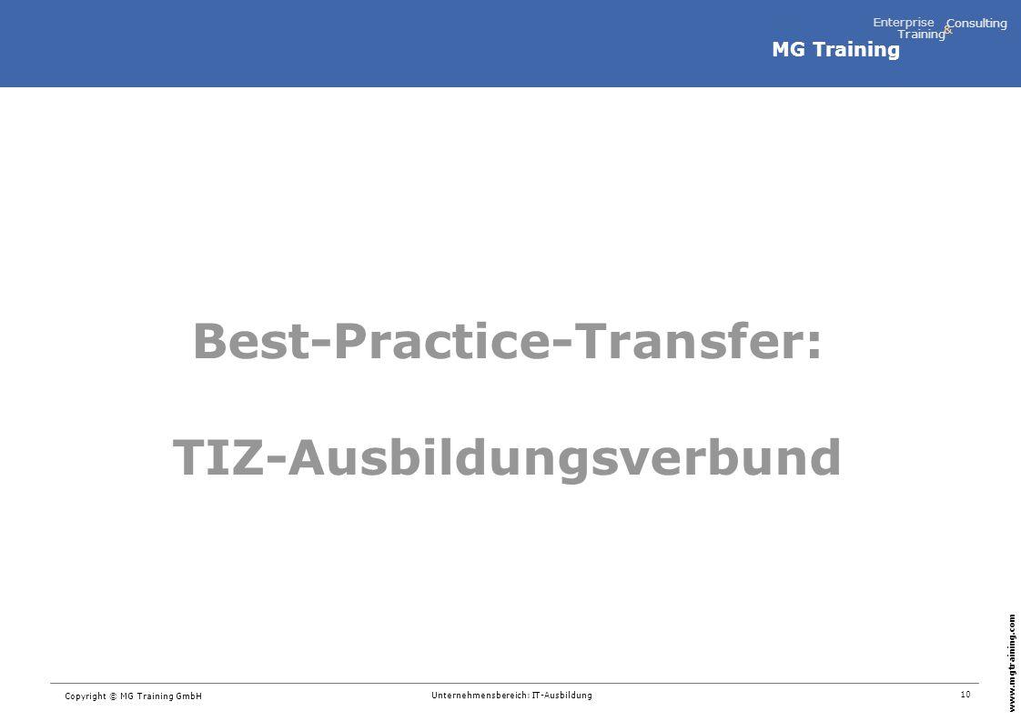Best-Practice-Transfer: TIZ-Ausbildungsverbund