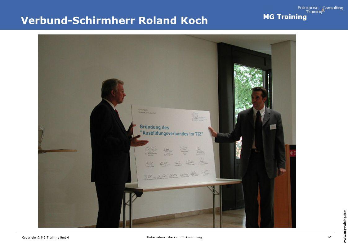 Verbund-Schirmherr Roland Koch