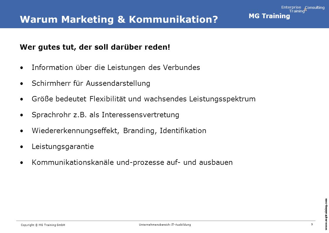 Warum Marketing & Kommunikation