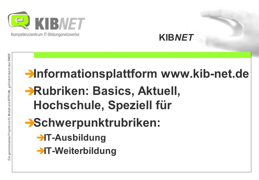 Informationsplattform www.kib-net.de