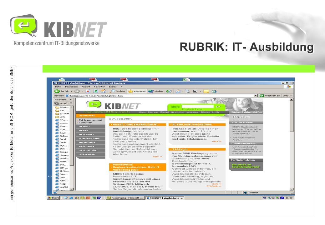 RUBRIK: IT- Ausbildung