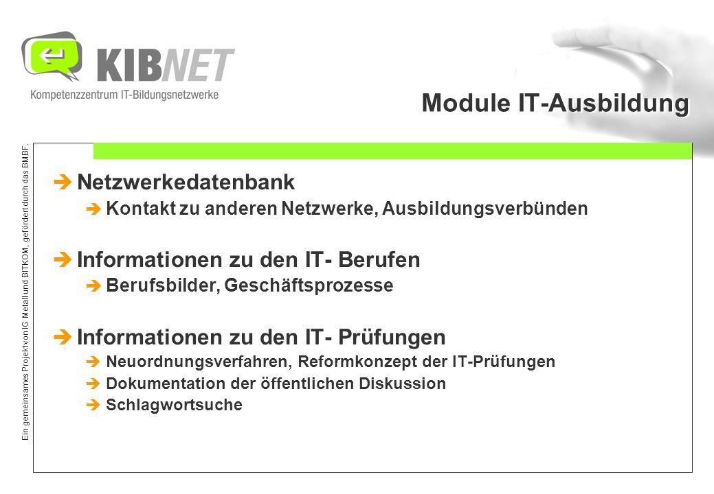 Module IT-Ausbildung Netzwerkedatenbank