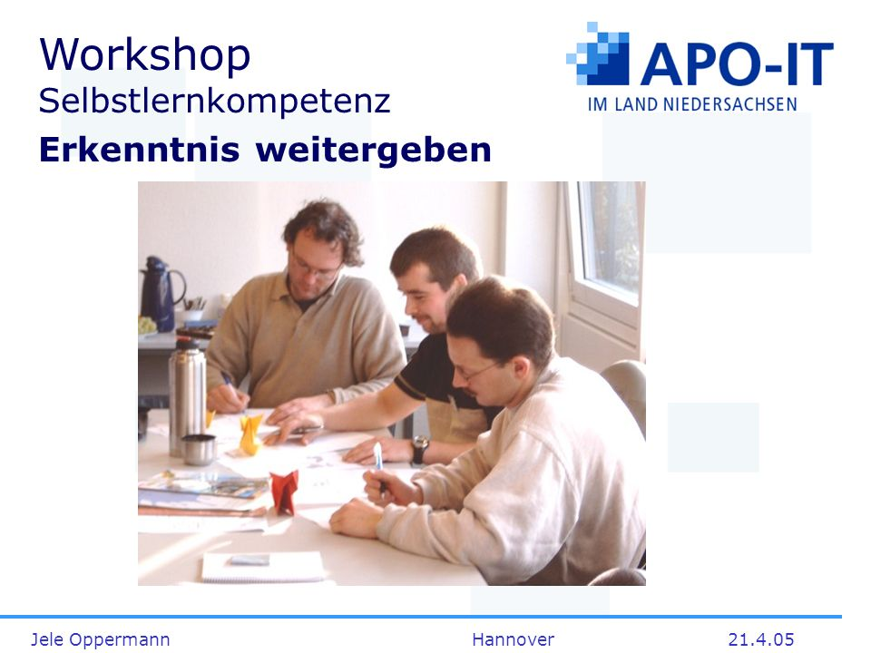 Workshop Selbstlernkompetenz