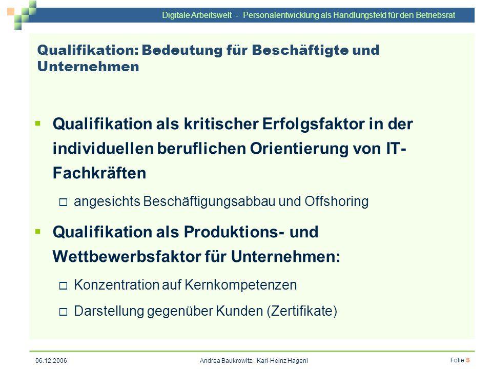 Qualifikation: Bedeutung für Beschäftigte und Unternehmen
