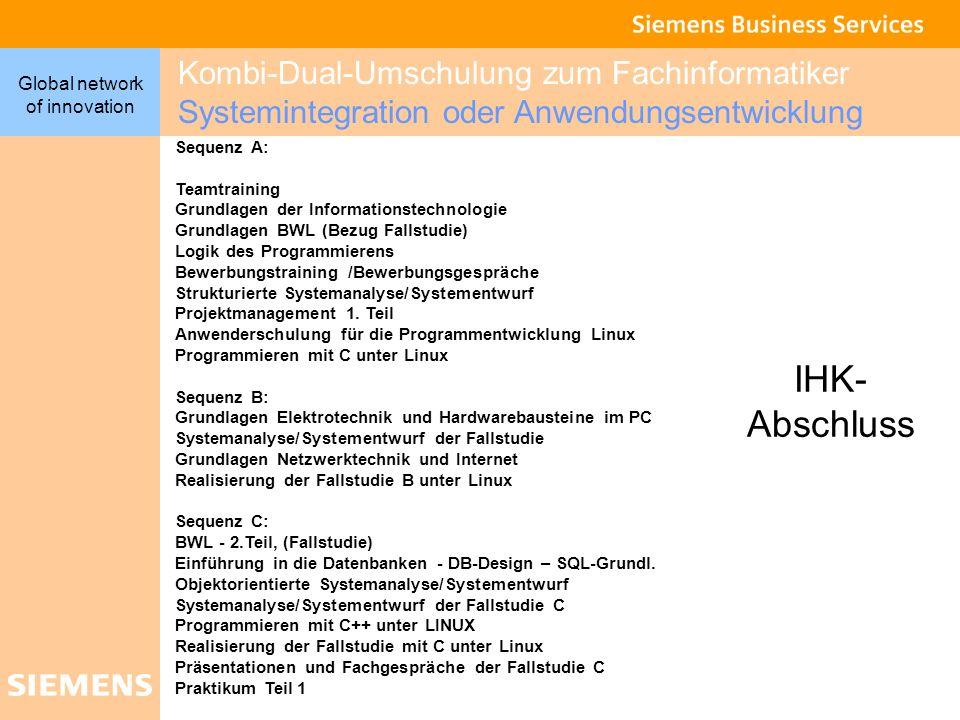 Kombi-Dual-Umschulung zum Fachinformatiker Systemintegration oder Anwendungsentwicklung