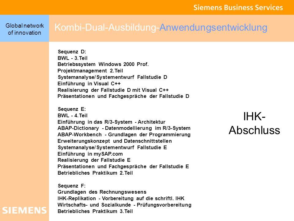 IHK- Abschluss Kombi-Dual-Ausbildung-Anwendungsentwicklung Sequenz D: