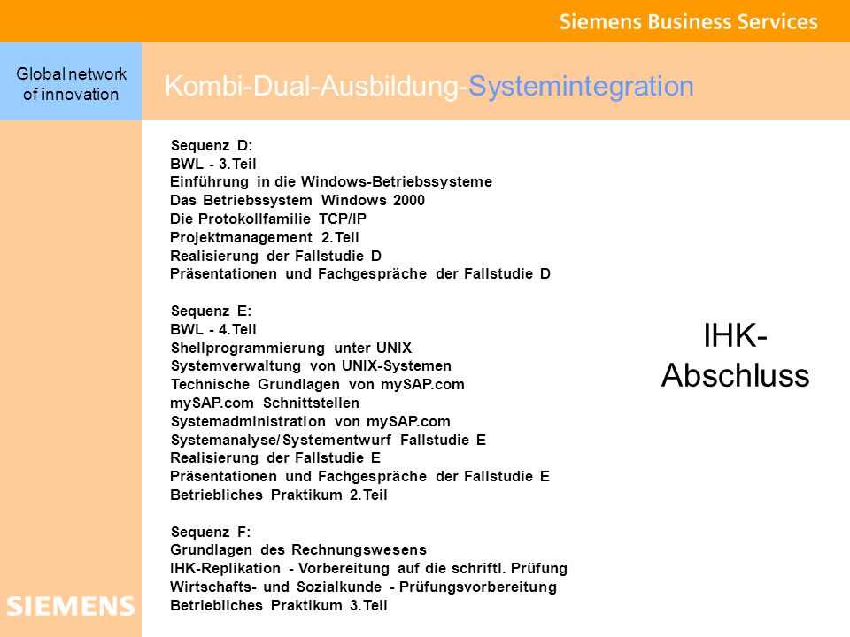 IHK- Abschluss Kombi-Dual-Ausbildung-Systemintegration BWL - 3.Teil