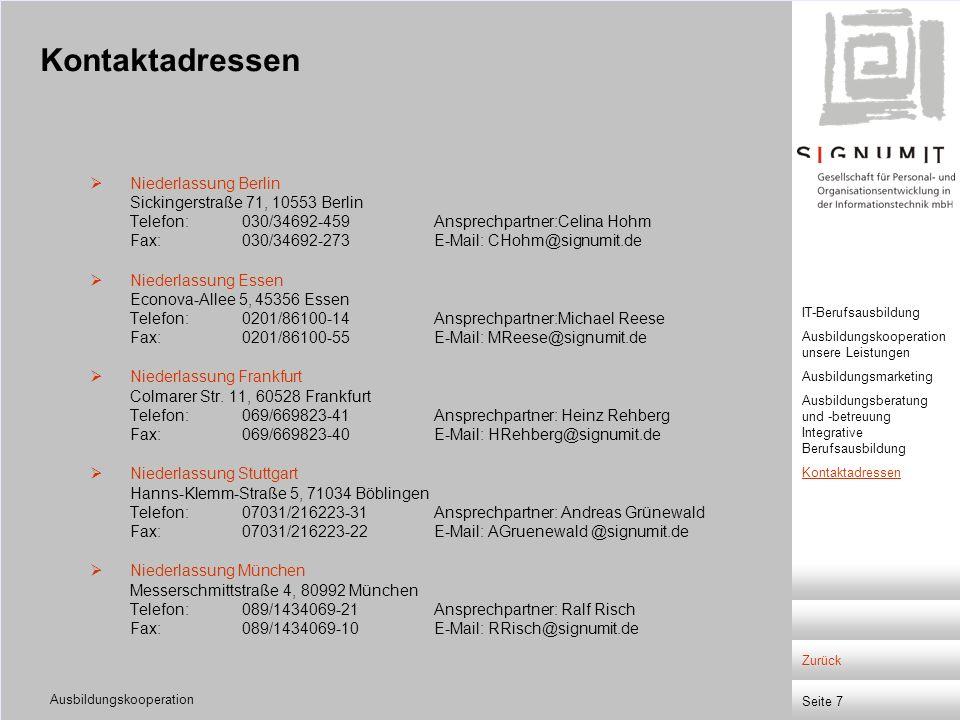 Kontaktadressen
