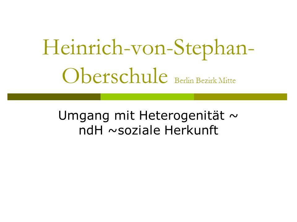 Heinrich-von-Stephan-Oberschule Berlin Bezirk Mitte