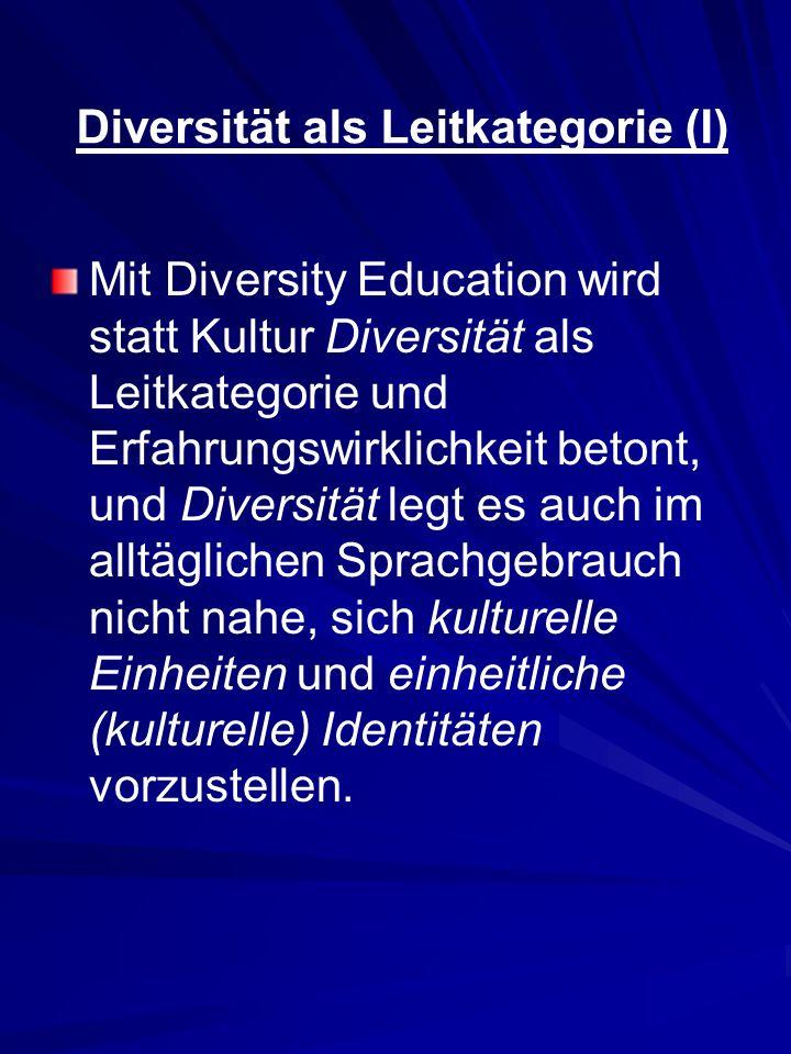Diversität als Leitkategorie (I)