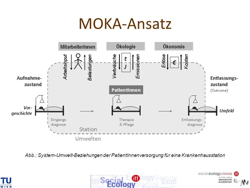 MOKA-Ansatz Abb.: System-Umwelt-Beziehungen der PatientInnenversorgung für eine Krankenhausstation