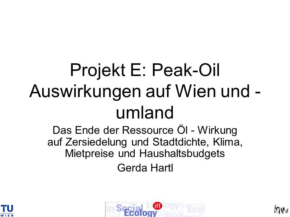 Projekt E: Peak-Oil Auswirkungen auf Wien und -umland