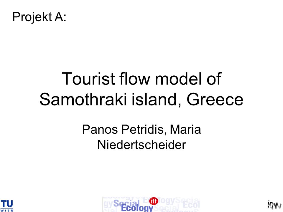 Tourist flow model of Samothraki island, Greece