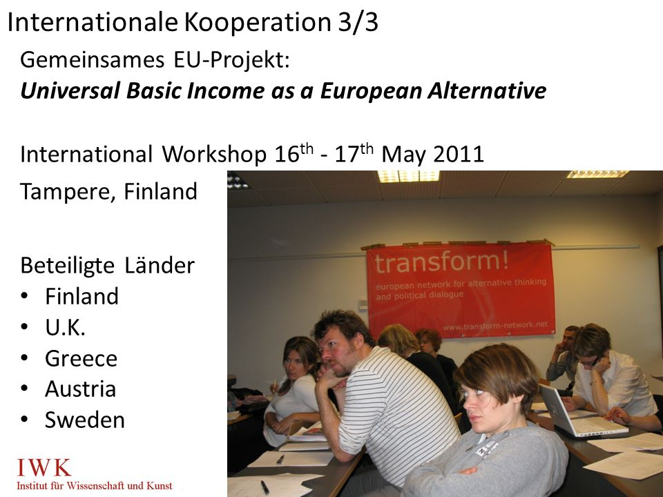 Internationale Kooperation 3/3