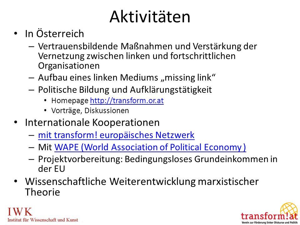 Aktivitäten In Österreich Internationale Kooperationen