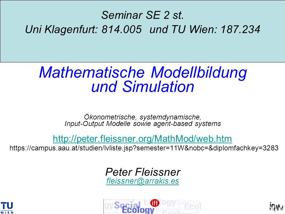 Seminar SE 2 st. Uni Klagenfurt: 814. 005 und TU Wien: 187