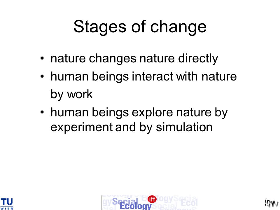 Stages of change nature changes nature directly