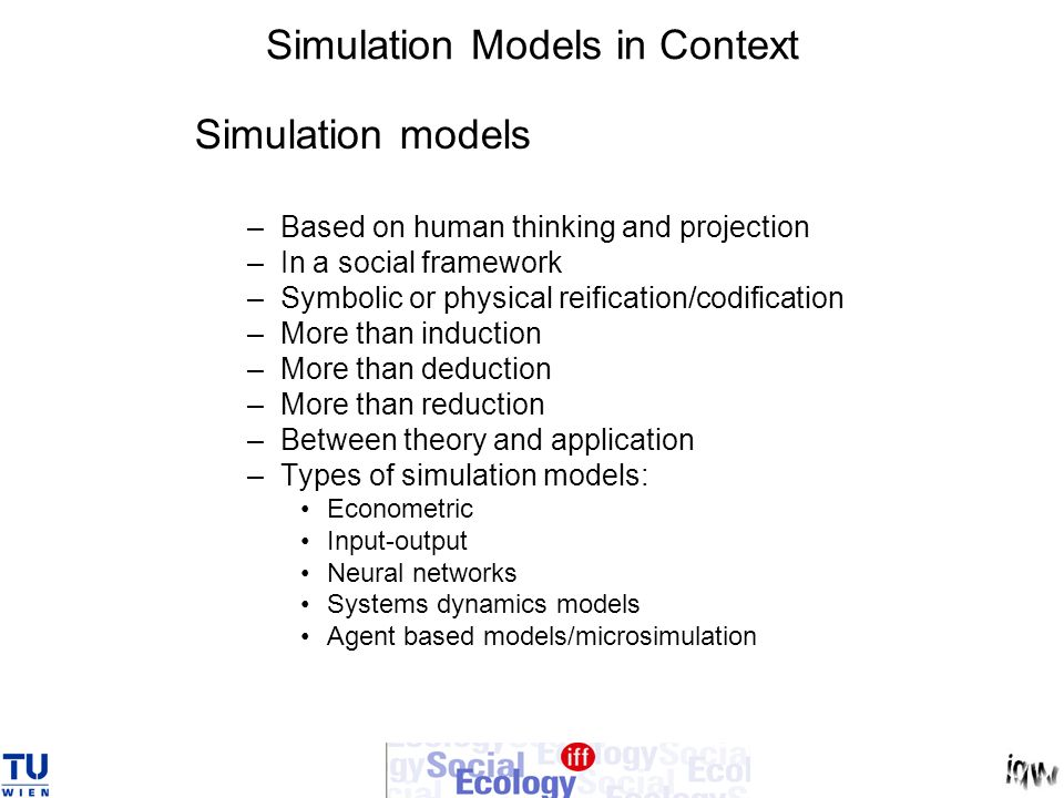 Simulation Models in Context
