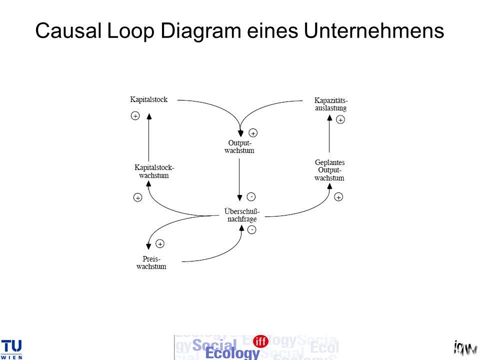 Causal Loop Diagram eines Unternehmens
