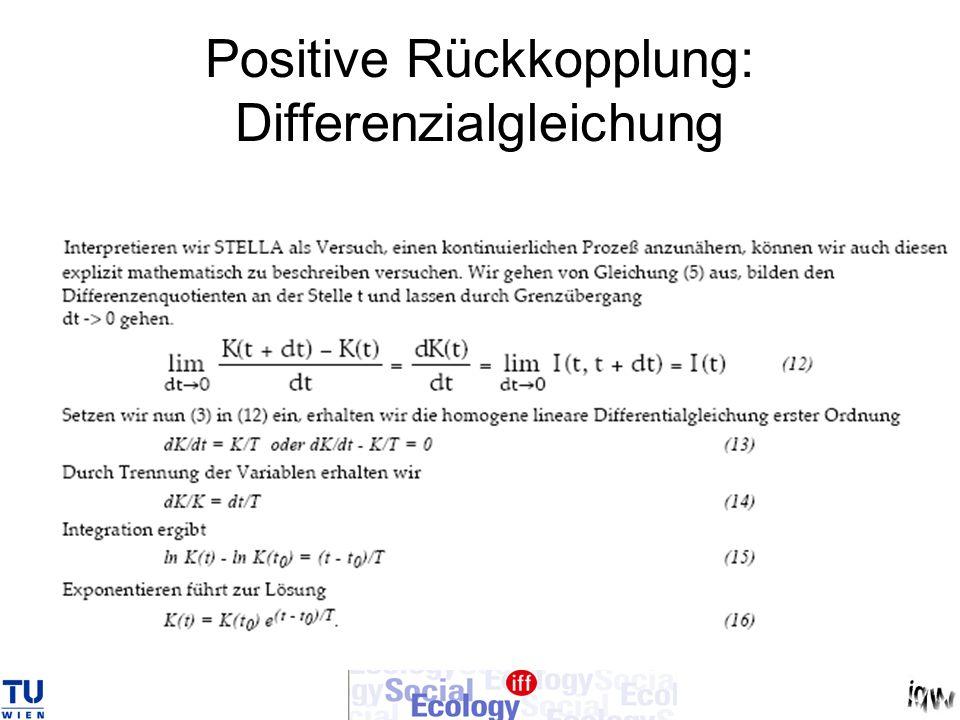 Positive Rückkopplung: Differenzialgleichung