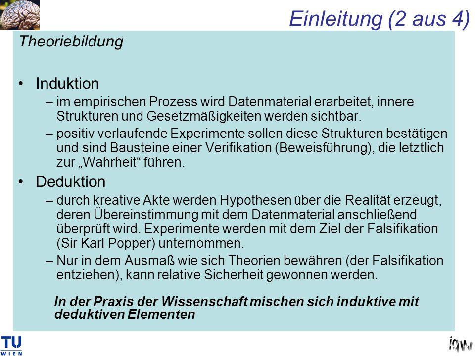 Einleitung (2 aus 4) Theoriebildung Induktion Deduktion