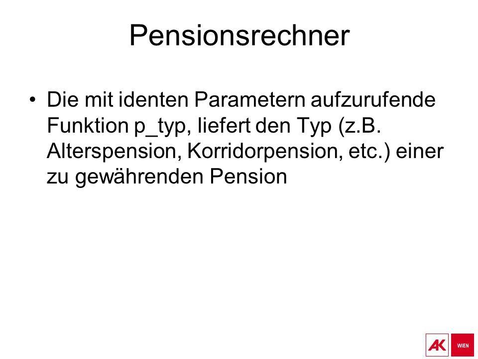 Pensionsrechner