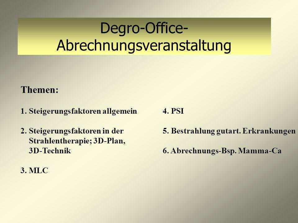 Degro-Office- Abrechnungsveranstaltung