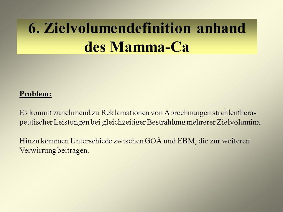 6. Zielvolumendefinition anhand des Mamma-Ca