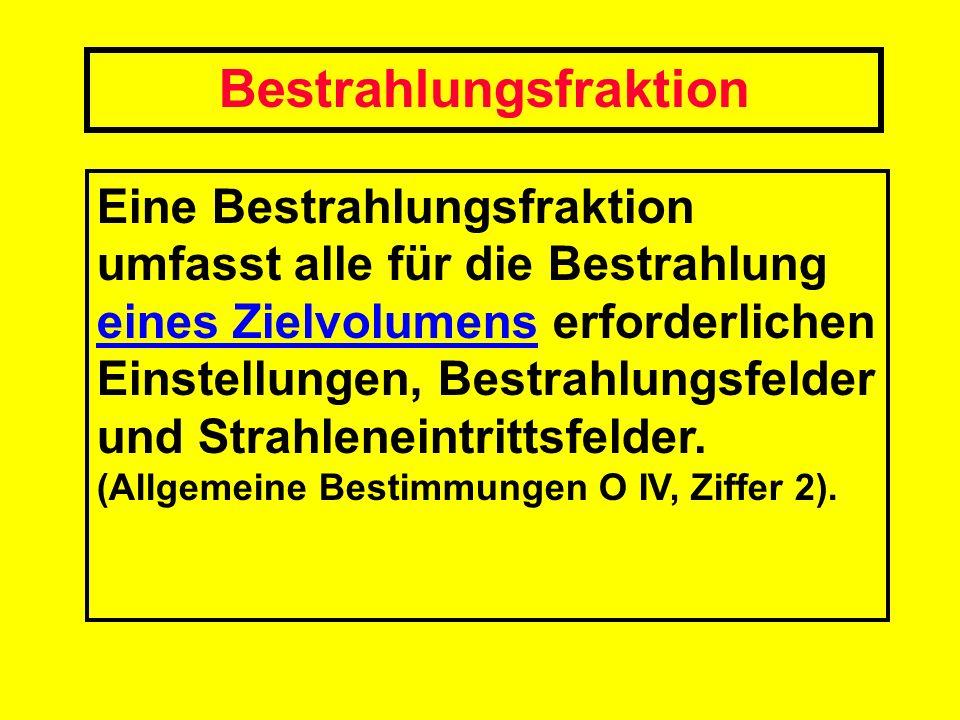 Bestrahlungsfraktion
