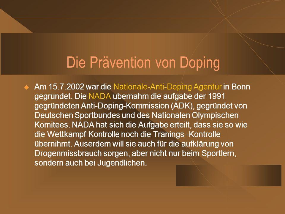 Die Prävention von Doping