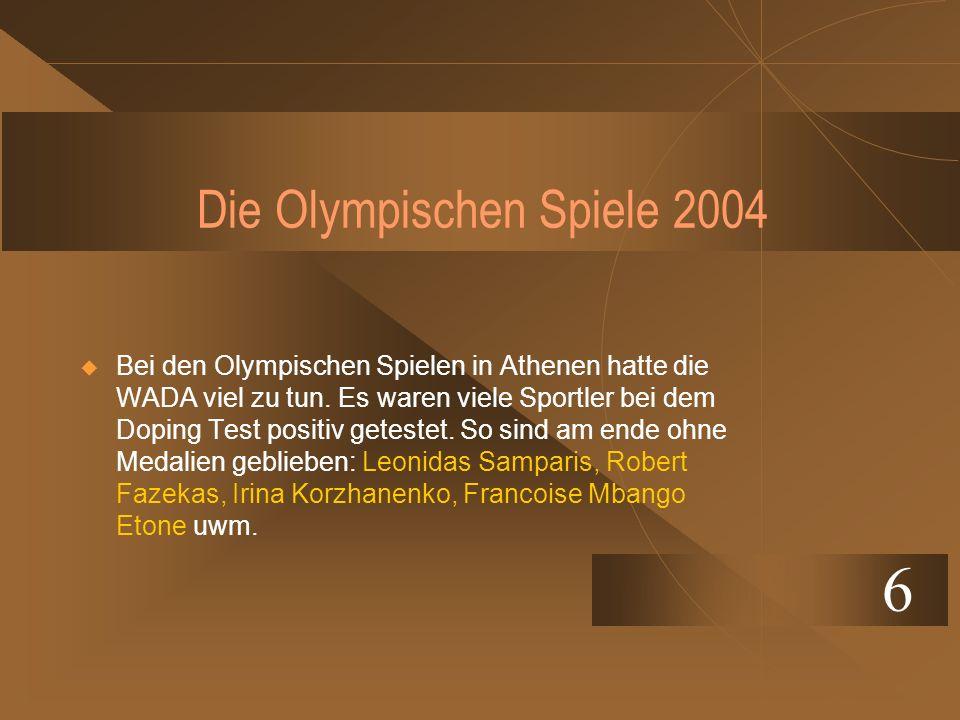 Die Olympischen Spiele 2004