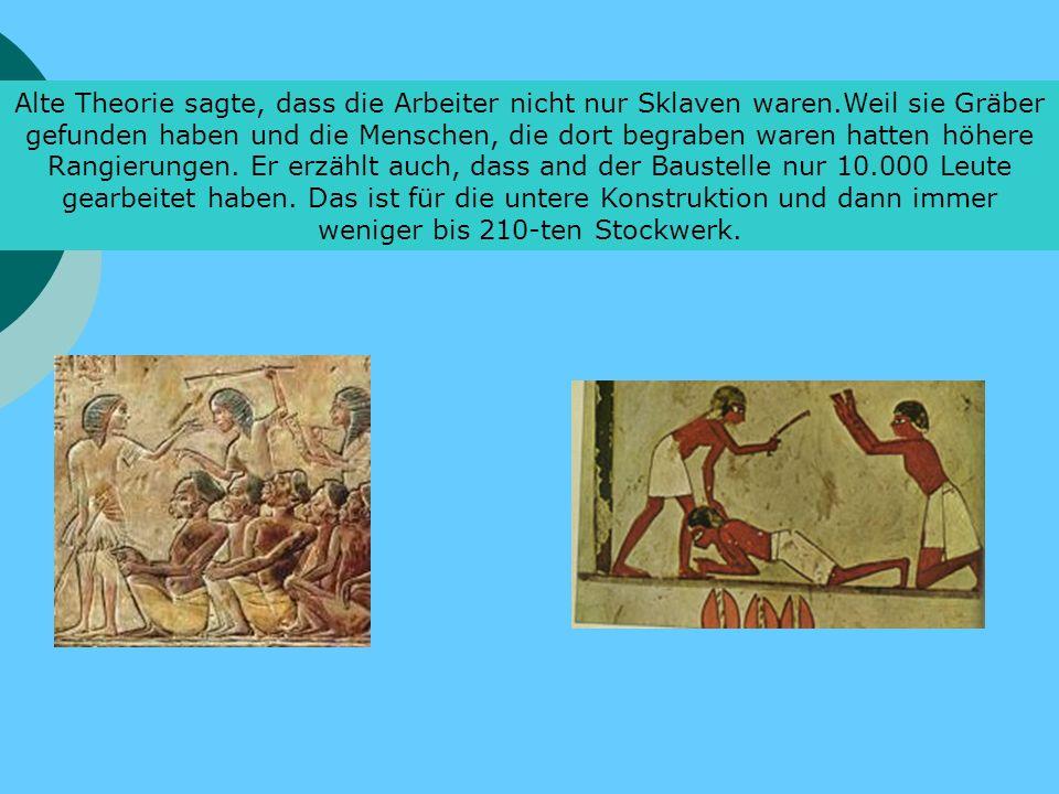 Alte Theorie sagte, dass die Arbeiter nicht nur Sklaven waren