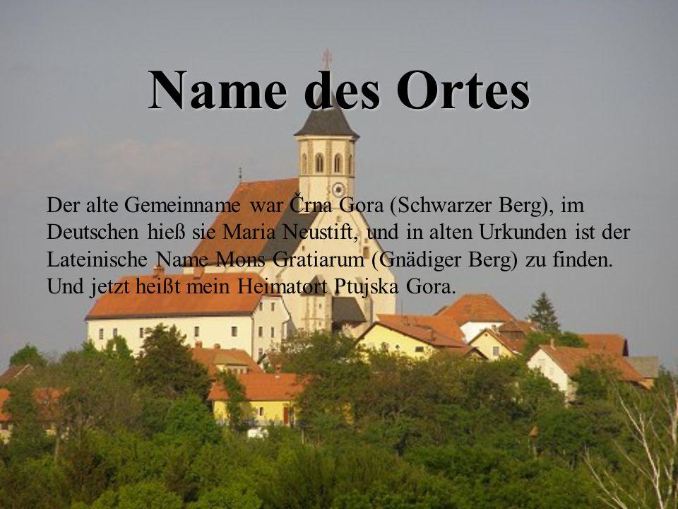 Name des Ortes