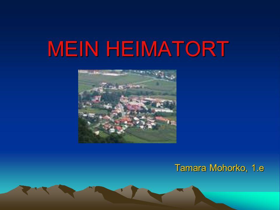 MEIN HEIMATORT Tamara Mohorko, 1.e