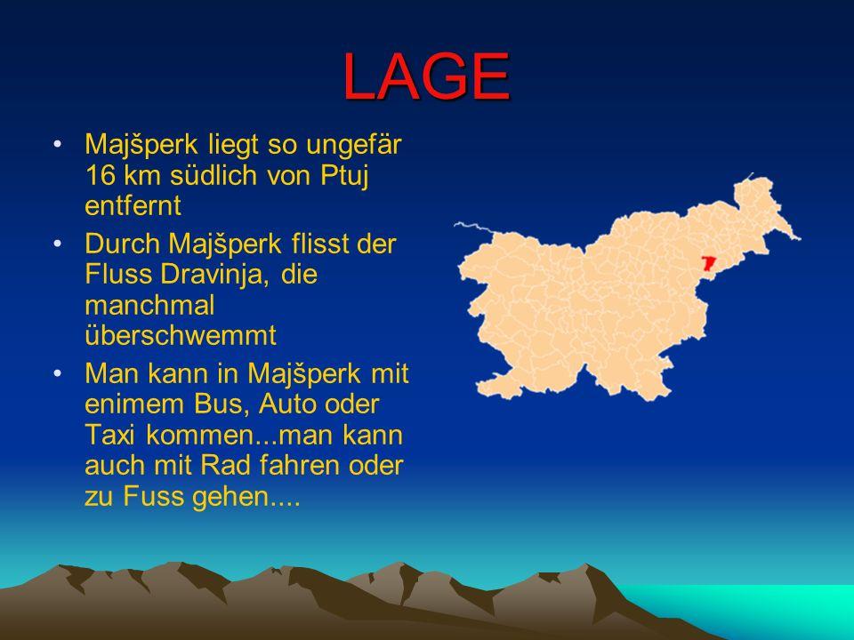 LAGE Majšperk liegt so ungefär 16 km südlich von Ptuj entfernt