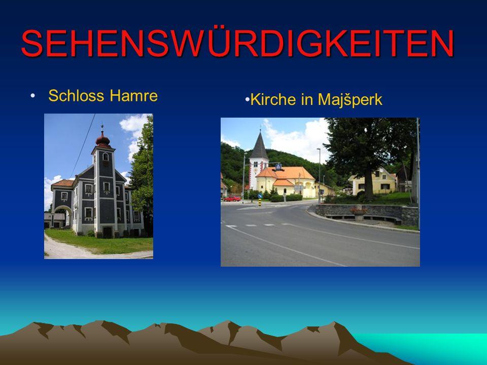 SEHENSWÜRDIGKEITEN Schloss Hamre Kirche in Majšperk