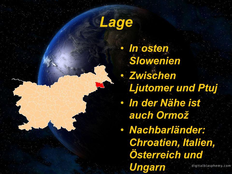 Lage In osten Slowenien Zwischen Ljutomer und Ptuj
