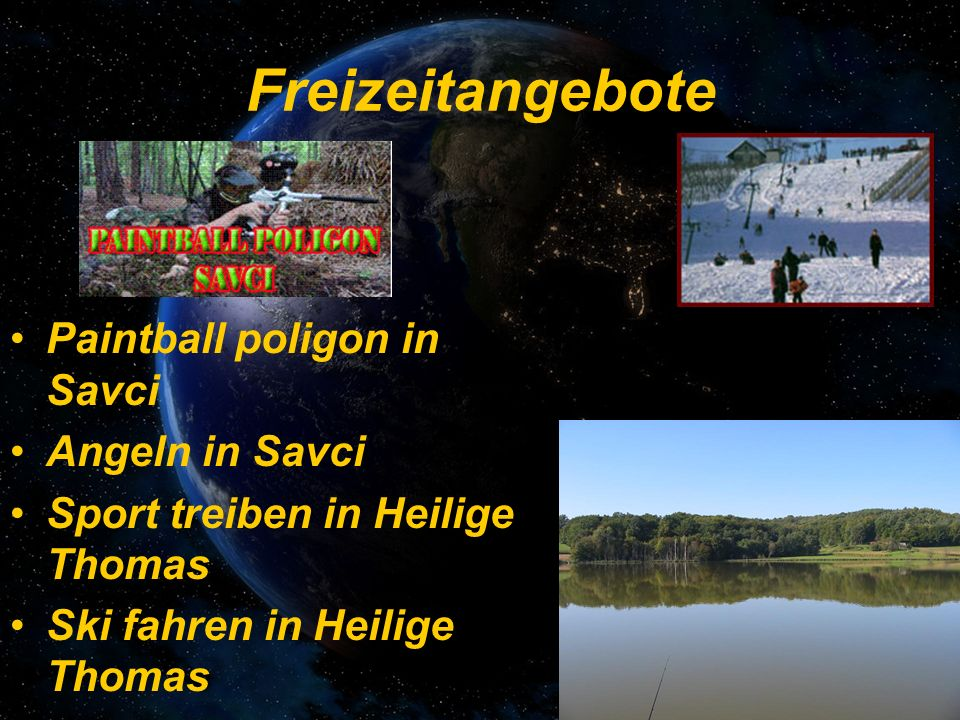 Freizeitangebote Paintball poligon in Savci Angeln in Savci