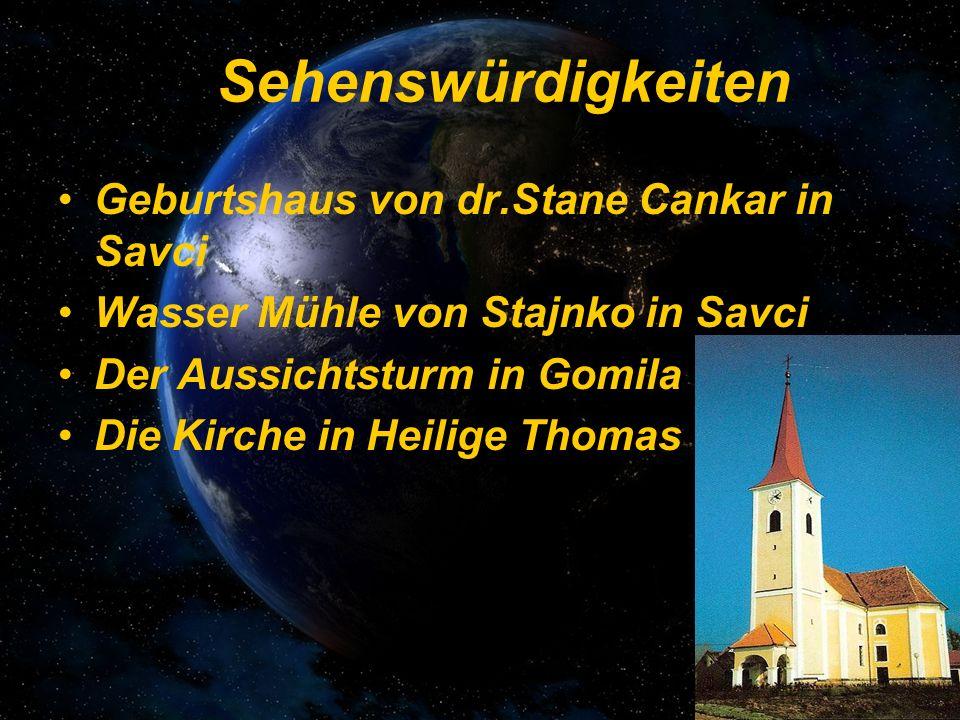Sehenswürdigkeiten Geburtshaus von dr.Stane Cankar in Savci