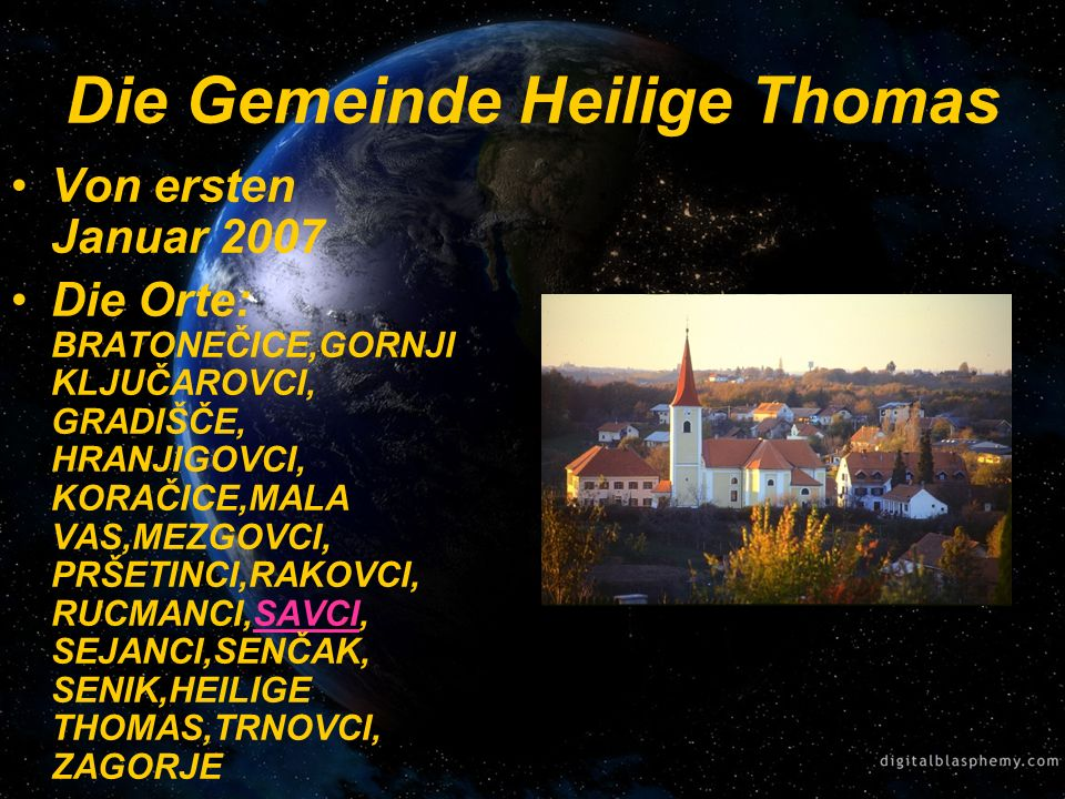 Die Gemeinde Heilige Thomas