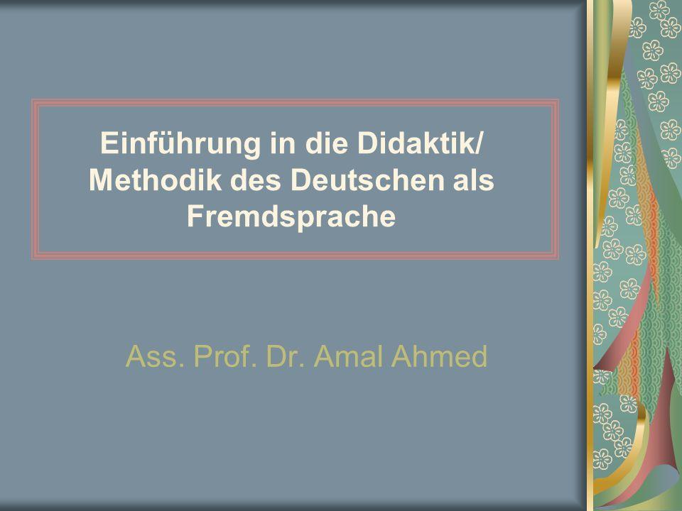 Einführung in die Didaktik/ Methodik des Deutschen als Fremdsprache