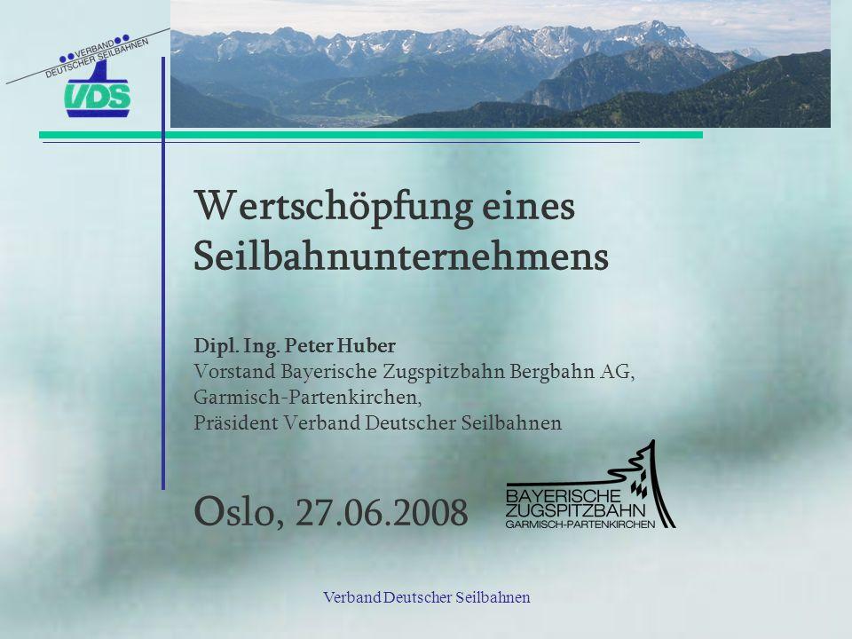 Wertschöpfung eines Seilbahnunternehmens Dipl. Ing. Peter Huber